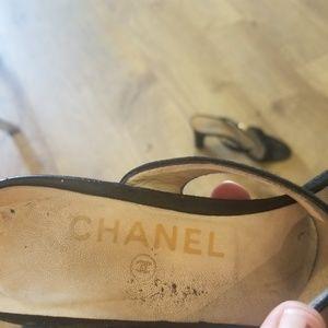 CHANEL Shoes - CHANEL black 2 strap pumps